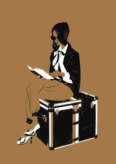 Jet-Lag / Lectora viajera (ilustración de Matt Taylor)