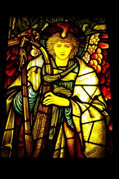 England | Walthamstow stained glass by William Morris.