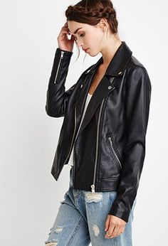 Faux Leather Moto Jacket | Forever 21 - 2000167192