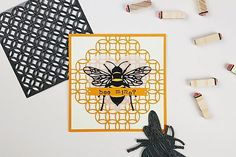 If you're looking for a Valentine's card but red and pink aren't your thing, then look no further than this super-cute bee design! Loom Knitting Projects, Sewing Projects, Hobbies And Crafts, Crafts For Kids, Charm Pack Patterns, Alphabet Stamps, Origami Easy, Mothers Day Cards, Summer Crafts