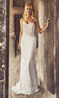 elbeth gillis bridal 2017 3 strapless sweetheart embellished bodice trumpet wedding dress (karen) mv
