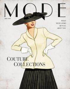 Image detail for -Vintage Fashion: Mode Couture Collections Art Print   Art Canyon