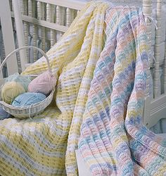 Stripes for Baby Crochet Blanket Patterns ePattern - Leisure Arts