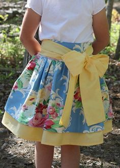 Cute girls' skirt! Links to pattern to purchase.