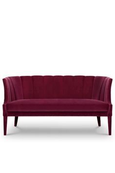 Begonia is a beautiful flower from tropical countries. Inspired by its warm energies and the bold shape of its petals, our designers conceived BEGONIA 2 Seat Sofa. Its charming curves and soft cotton velvet upholstery make this the perfect curved back two seat sofa for elegant modern interior design.