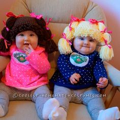 Cabbage Patch Kids Halloween Costumes (picture only) Baby Girl Halloween Costumes, Cute Costumes, Family Halloween, Halloween Fun, Costume Ideas, Baby Costumes For Girls, Newborn Costumes, Funny Baby Costumes, Infant Halloween