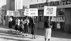 The Texas State Fair was segregated, a tradition that dated back to 1889 when planners first set aside a day for Blacks to attend the fair. Then called Colored People's Day, it was discontinued in 1910 and renamed Negro Achievement Day in 1936. Juanita Craft, NAACP Youth Council advisor for the Dallas branch, spearheaded a movement to end discrimination at the Texas State Fair so that any person of any race could participate on any day they chose, October 1955. Photo credit: R.C. Hickman