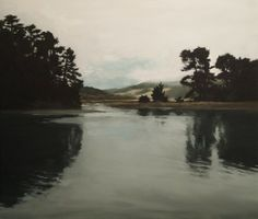 tand--what do you think of this?  Bolinas Reflection Oil Painting Landscape Art by windylanestudio, $50.00