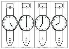 Such a fun way to practice telling time! Wear a paper watch and go on a scavenger hunt to find out what time is on your classmates' watches. :) Could use for elapsed time. Find the time elapsed between your partner and you.