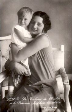 Queen Astrid and her daughter Josephine Charlotte