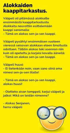 Vitsit: Alokkaiden kaappitarkastastus - Kohokohta.com Texts, Funny Pictures, Jokes, Photoshop, Inspirational Quotes, Humor, Comics, Life, Fun Stuff
