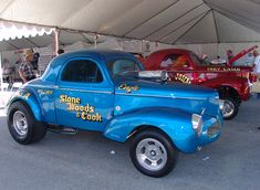 Stone Woods & Cook and Big John Mazmanian '41 Willys  Gassers!