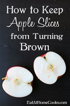 How to Keep Apple Slices from Turning Brown: The first step involves slicing the apples and letting them soak for 2-3 minutes in Sprite.  I pour the Sprite in a bowl, add the apples and then stir so that all surfaces of the apples are in contact with the Sprite.