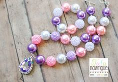 Sofia the First Inspired Amulet Chunky Bead Necklace and Bracelet Set - Read To Ship