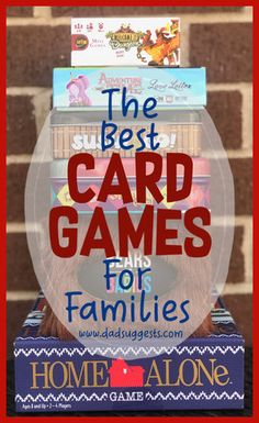 These are our favorite card games to play with the family. The best card games for kids and adults to share together on a family game night. - Education and lifestyle Fun Card Games, Card Games For Kids, Playing Card Games, Family Card Games, Activities For Kids, Therapy Activities, Alone Game, Educational Board Games, Family Game Night