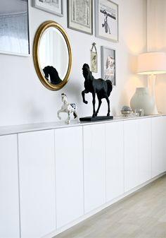 studio karin: BYGG ETT SIDEBOARD AV KÖKSÖVERSKÅP. My former home, a sideboard I built with IKEA cabinets.