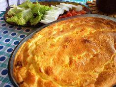 Com aquele restinho de arroz, faça esta deliciosa torta, e ainda varie no recheio! - Receita Prato Principal : Torta de massa de arroz com 3 recheios de Fabiola Bianco