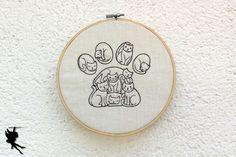 Besonderes Katzenpfötchen  Wanddeko Leinenbild von DieNaehfeeNoir