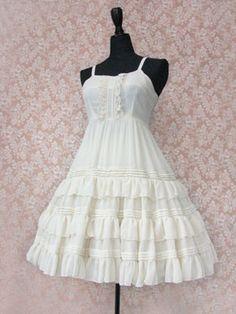 Victorian Maiden Chiffon Under Dress
