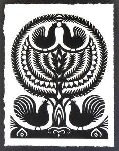 wycinanki - polish paper folk art