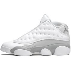 Air Jordan Youth 13 Low Retro [310811-100] ($120) ❤ liked on Polyvore featuring shoes