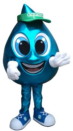 This is the Water Droplet mascot we made for Aquiana Water and TLW Productions Mascot Design, Water Droplets, Mascot Costumes, Puppets, Animation, Logos, Design Ideas, Animals, Fictional Characters