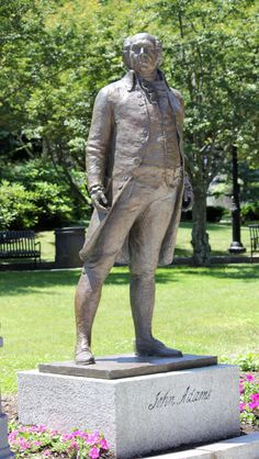 John Adams Statue, Quincy, Massachusetts - Second President of the United States of America