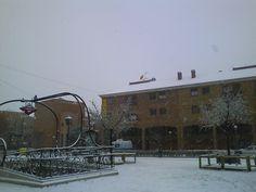 Vallekas con nieve...