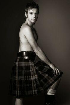 Man in a kilt! Ewan McGregor in a kilt is even better! Ewan Mcgregor, Scottish Man, Scottish Actors, Scottish Kilts, Tartan, Plaid, Men In Kilts, Kilt Men, A Real Man