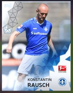 Konstantin Rausch SV Darmstadt 98 (Bundesliga) Silver Parallel Card 2016 Topps KICK