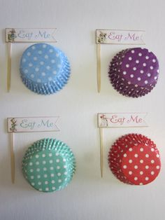12 Eat Me Cupcake Toppers & 12 Standard Baking by DKDeleKtables, $7.00