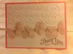 Handmade Greeting Card - Butterfly Thank You Card on Etsy, $3.00