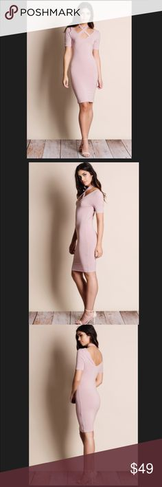 NWT HALTER CRISS CROSS BLUSH DRESS. This Gorgeous Halter Criss Cross Blush Dress is a great addition to your closet. It's intricate detail adds to the ambience of the dress. PLEASE NO OFFERS ON MY BOUTIQUE ITEMS PLEASE. THANK YOU SO MUCH FOR YOUR UNDERSTANDING. God Bless You💗💗💗 Aluna Levi Dresses