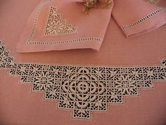 Love variation on basic square shape. Crazy Quilting, Needle Lace, Bobbin Lace, Hardanger Embroidery, Embroidery Applique, Drawn Thread, Point Lace, Sewing Art, Lace Making