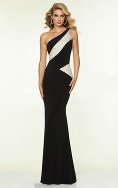 Sheath One Shoulder Floor-length Lace AU Dress