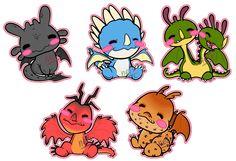 [WIP] Baby Berk Dragons (updated) by neir-2-you.deviantart.com on @deviantART