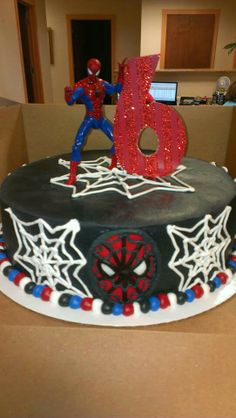 Spiderman cake - Lukas favorite