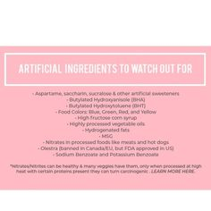 Look out for these ingredients on your next shopping trip. Corn Syrup, Food Coloring, Feel Better, Healthy Living, Feelings, Blog, Shopping, Healthy Life
