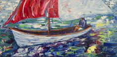 ARTFINDER: Sail Away With Me  by Lena  Owens  - A Heavy Textured Painting  oil Painting Contemporary on Canvas Textured with palette knife, ready to hang.   OLena Art My palette knife oil impasto textur...