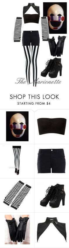 """""""FNAF The Marionette"""" by lovestruckdreamer ❤ liked on Polyvore featuring Freddy, Lynley, Love Moschino and Neat Collar"""