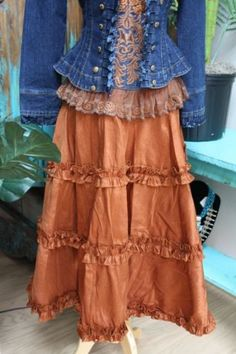 Brands :: Vintage Collection :: VINTAGE COLLECTION SILK RUST SKIRT! - Cowgirl Kim|Ladies Western Wear|Cowgirl Fashion|Double D Ranch|Unique High End Western Fashions|Turquoise Jewelry|Southwestern Jewelry