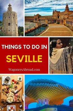 There are so many things to do in Seville, the capital of Andalucía. The city is admired for its architecture, flamenco, Stuff To Do, Things To Do, European Holidays, Andalucia Spain, Visit Santa, Seville Spain, Travel Inspiration, Travel Ideas, Train Travel