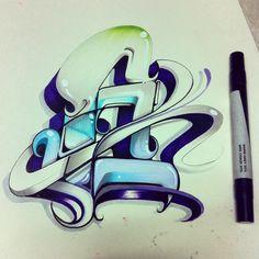Graffiti Pens, Graffiti Writing, Street Graffiti, Graffiti Alphabet, Graffiti Styles, Graffiti Lettering, Hand Lettering, Street Art, Typography