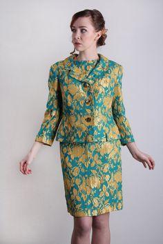 3 Piece Suit  BrocadeTop Skirt Jacket  SAKS FIFTH AVE by VeraVague, $175.00
