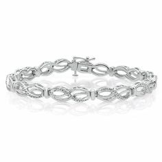 Diamond Mom Bracelet in Sterling Silver available at #HelzbergDiamonds