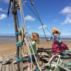 Playing Pirates on a Summers Day in Hoylake on the Beach, Wirral