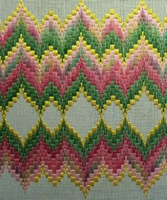 Bargello & Roses Continued   STITCHLADY'S