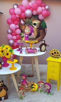 Bear Birthday, 2nd Birthday Parties, Diy Birthday, Hillary Birthday, Cute Sweatshirts For Girls, Marsha And The Bear, Candy Gift Baskets, Happy Birthday Posters, Girl Birthday Decorations