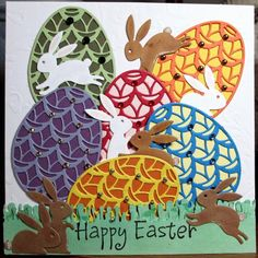 CCEE1415, Bunnies and Eggs_vg by Vicky Gould - Cards and Paper Crafts at Splitcoaststampers