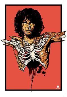 Ah, where to pin it.  Skulls I guess.  Love Jim Morrison.